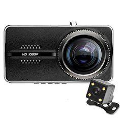 "Carsun V3 Dual-Lens Ultrathin 4"" Screen Dash CamNovatek NT96655 170 110Angle front&rear recording WDR Super Night Vision Full HD 1080P G-sensor Parking Guard Dash Cam Front And Rear"
