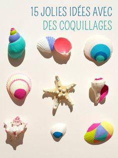 15 projets de bricolages pour enfants avec des coquillages