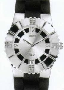 Guess Ladies Black Silver Resin Watch I80332L1 GUESS. $100.95. Black Resin Strap. Analog Display. Guess Packaging. Water Resistance : 5 ATM / 50 meters / 165 feet. Analog quartz