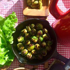 Grilled brussels sprouts@my yoga class/芽キャベツのグリル@自宅yogaクラス