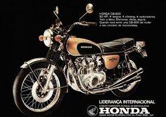 5417 - MOTORCYCLE - HONDA 1972 - CB-500  - 50 HP, 4 tempos, 4 cilindros, … - 41x29-