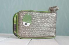 Large Whale wallet, Chevron pattern inside – a unique product by ritaboth. Via en.DaWanda.com.