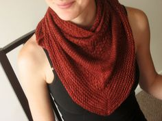 Gorgeous free #knitting pattern for a scarf.  Love this color!