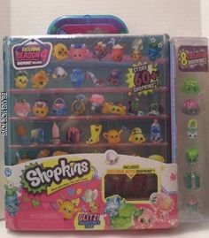 Shopkins SEASON 4 Glitzy Collector's Case w/ 8 Exclusives NOT RELEASED  In Hand! #Moose