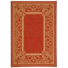 Safavieh Courtyard Collection CY2965 3707 Red And Natural Indoor/ Outdoor  Area Rug (5