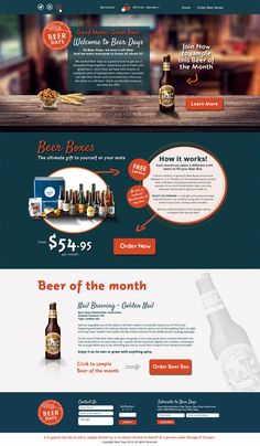 Craft Beer company wanted a fresh new website design to replace existing website