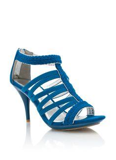 strappy braided peep-toe heels $26.40