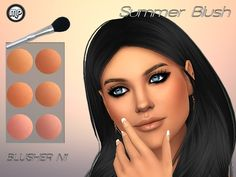 Sims 4 Updates: TSR - Make Up, Blush : MP Summer Blush N1 by MartyP, Custom Content Download!