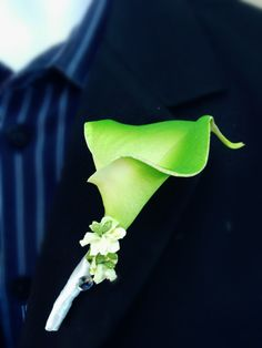 Calla lily Boutonniere: Real touch calla lily boutonniere-prom,wedding,golf events