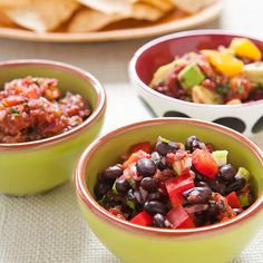 Five-Minute Fresh Tomato Salsa Recipe - Cooks Country This sounds good - tomatoes are coming on fast!