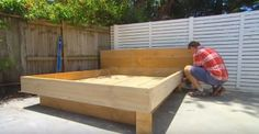 Dad Built A Bed For The Backyard, But Wait 'Til You See The Mattress. GENIUS!