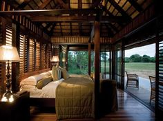 "22. Phinda Private Game Reserve, South Africa. This camp is on rehabilitated land formerly used to grow pineapple, cotton, and sisal, near the Ubombo Mountains. Guests experience ""all the comforts, but get them in the wilderness,"" where zebras, impalas, and wildebeests roam."