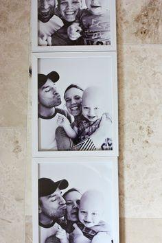 enJOY it by Elise Blaha Cripe: huge photobooth style family photos.