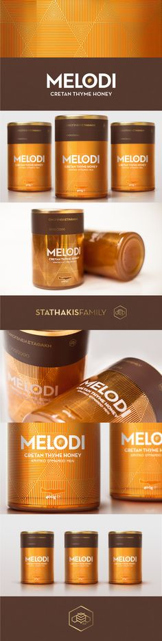 The MELODI is an ode to the Cretan honey. We used gold foil printing and colors of the earth that represent that high quality product.