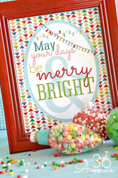 May Your Days be Merry and Bright- free Christmas Printable (comes in 8x10 or card size)