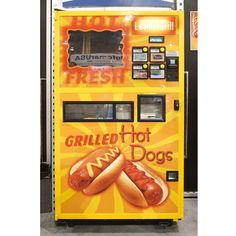 A Grilled Hot Dog vending machine