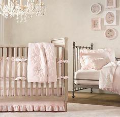 Restoration Hardware Solid Pink Bedding