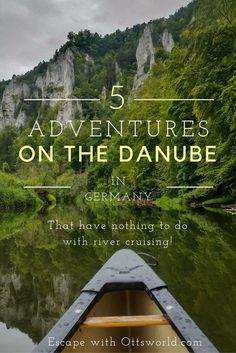 5 Adventures Along the Danube River that have nothing to do with river cruising.  I like to go where other people don't and this area of the river in Germany called the Young Danube is relatively unknown and full of heart pounding adventures!