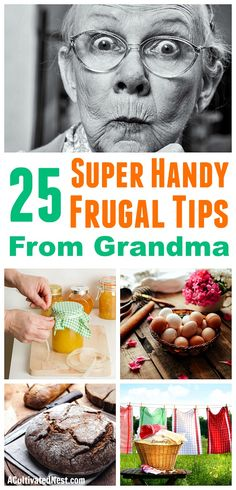 25 Frugal Tips from Grandma