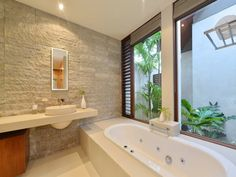We asked two experts for their top tips on bathroom tile ideas, advice on decorating bathrooms, tips on small basins and more. Small Basin, Bathroom Images, Corner Bathtub, Real Estate, Bathrooms, Home, Design, Decor, Decoration