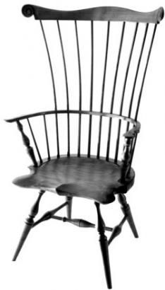 New England Standard Arm Comb Back Windsor Chair