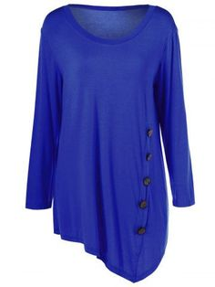 GET $50 NOW | Join RoseGal: Get YOUR $50 NOW!http://m.rosegal.com/plus-size-tops/plus-size-inclined-buttoned-blouse-727054.html?seid=3971173rg727054