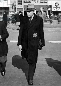 A Jewish man wearing the Star of David, Berlin, 26th September 1941 (b/w photo)