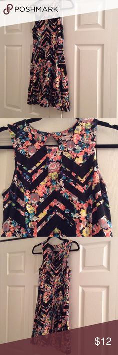 """xhilaration dress Size medium. Very comfy and perfect for summer. Length from underarm to end of skirt is 27"""". Just took the tags off and wore once to a grad party... Felt it was too young for me!!!!! Xhilaration Dresses Midi"""