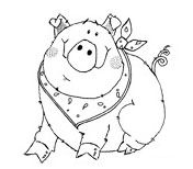 Pig embroidery pattern