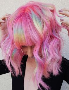 39 Stunning Rainbow Haircuts with Bangs in 2018. Coolest rainbow hair colors and hairstyles with bangs to get modern styles of hair color looks in 2018. See here and get the crazy shades of rainbow hair colors to make your medium and long hair more attractive. You can visit here to get help how to choose the rainbow shades and how your bangs will look like after wearing this style.