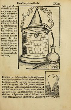 Early alchemy and distillation manual Medieval Philosophy, Solar Still, Elixir Of Life, Magick, Witchcraft, Spiritual Disciplines, All Souls, Medieval Manuscript, Book Of Shadows