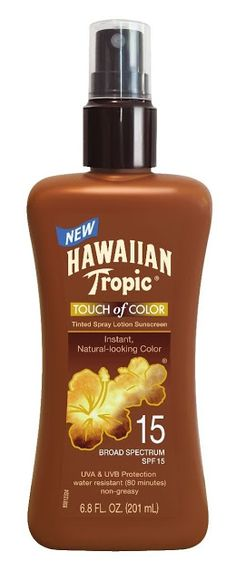Hawaiian Tropic Sunscreen Touch of Color Sun Care Sunscreen Spray Lotion - SPF Ounce * Click image for more details. (This is an affiliate link) Tanning Sunscreen, Safe Tanning, Spray Sunscreen, Best Tanning Lotion, Tanning Tips, Suntan Lotion, Outdoor Tanning, How To Tan, Hawaiian Tropic