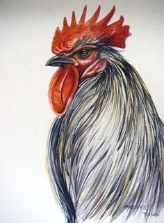 This is the same painting of the rooster I uploaded a couple days back. This photo was taken in ambient sun light inside my house and the other taken at night with incandescent lights on. I normal. Rooster Painting, Rooster Art, Tole Painting, Painting & Drawing, Watercolor Paintings, The Rooster, Chicken Painting, Chicken Art, Chicken Houses