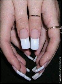 33 Trendy Ideas for nails long french manicure art designs Long French Nails, Long Nails, Long Fingernails, Acrylic Nail Shapes, Acrylic Nail Designs, French Manicure Acrylic Nails, French Manicures, Nail Polish, Pink White Nails