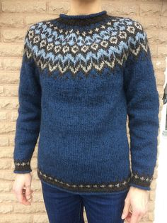 Color Patterns, Knitting Patterns, Jumper, Men Sweater, Blue Sweaters, Ravelry, Knit Crochet, Wool, Sewing