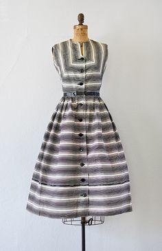 vintage 1950s black striped shirt dress [Bridge Synergies Dress] - $168.00 : ADORED | VINTAGE, Vintage Clothing Online Store