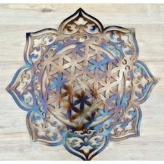 Decoration Originale, Flower Of Life, Diy Crafts, Copper Color, Wall Art, Flowers, Home