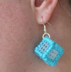 Plastic Canvas Earrings by 30 Minutes Crafts