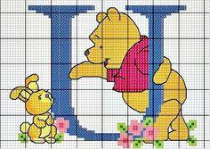 Winnie de pooh punto de cruz