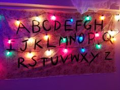 Stranger things DIY Alaphabet wall