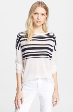 Vince Variegated Stripe Crewneck Sweater available at #Nordstrom