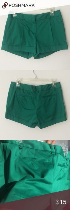 BCBGMaxAzria shorts These shorts are in excellent condition! Size 02. 97% cotton, 3% spandex. A really vibrant, green color. Dry clean. BCBGMaxAzria Shorts