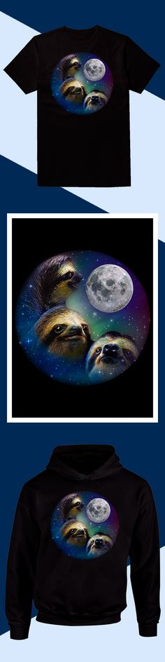 Sloth Three Moon - Limited edition. Order 2 or more for friends/family & save on shipping! Makes a great gift!