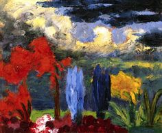 Emile Nolde (German~Danish 1867~1956) | He was one of the first Expressionists, a member of Die Brücke.