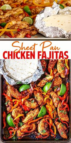 Chicken Thights Recipes, Chicken Parmesan Recipes, Easy Chicken Recipes, Easy Dinner Recipes, Dinner Ideas, Easy Recipes, Keto Chicken, Recipe For Chicken Fajitas, Oven Fajitas Chicken