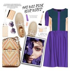 """""""Lattori dress:Cute Style"""" by pokadoll ❤ liked on Polyvore featuring Lattori, Frends, Marc by Marc Jacobs, Valentino, Purified, Maybelline, Christian Dior, Stila, Kate Spade and women's clothing"""