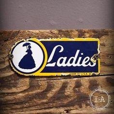 Bathroom Sign Ebay ladies gentlemen set of 2 bathroom restroom sign wood hp chic