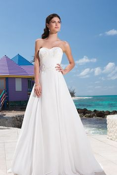 Unexceptionable Trailing Sweetheart Taffeta Chiffon A-line Wedding Dress