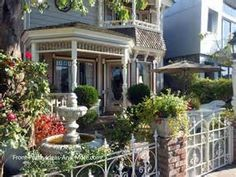 beautiful Victorian front porch in Naples of Long Beach CA
