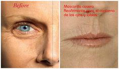 Mascarilla casera reafirmante para el contorno de ojos y labios ~ cositasconmesh
